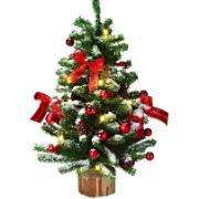 Festive 40cm Christmas Tree with Lights & Baubles £6.24 with a packet of seeds @ Spalding