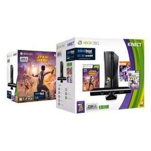 Xbox 360 250gb Kinect plus Star Wars, Dance Central 2, Kinect Sports & Kinect Adventures £189 @ Tesco instore