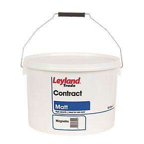 Leyland Contract Matt Emulsion Paint Magnolia & Brilliant White 10Ltr Only £14.69 Each at Screwfix