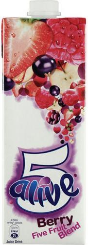 Five Alive (Berry Blast & Citrus) 1Litre, 2 For £1.70 @ Tesco