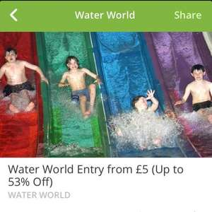 Waterworld entry for £5 @ Groupon