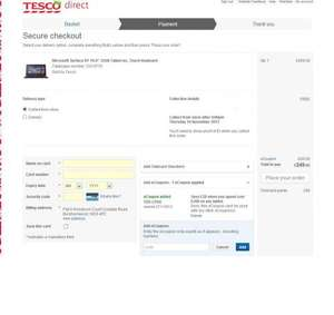 Microsoft Surface 32 GB including touch keyboard £249 with code at Tesco Direct