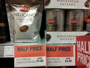 Kenco Millicano Instant Coffee 100g. Half Price £2.29 @Co-op