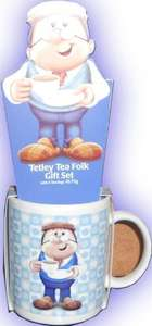 Tetley Tea Folk Gift Set - Gaffer Mug & 6 Teabags  only £1.99 instore at B&M.