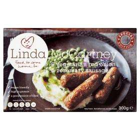 Linda McCartney Rosemary & Red Onion Sausages 2 for £3 @ ASDA