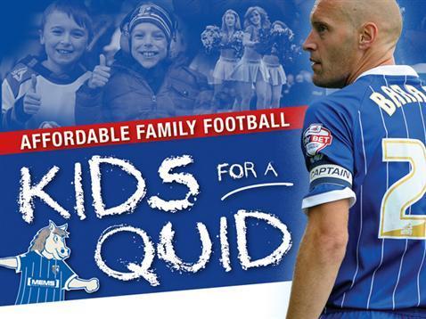 Gillingham FC v Oldham Athletic 23 November, Kids for a £1 quid