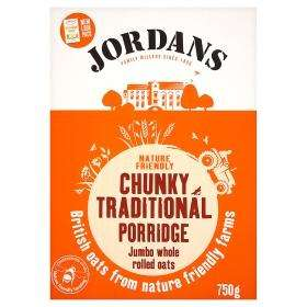 Jordans Chunky Traditional Porridge/Organic porridge 750g Boxes £1 each @ Asda