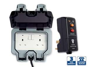"Aldi (instore) ""Outdoor twin wall socket & RCD circuit breaker"" £19.99"