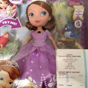Talking Sofia the first £21.99 Argos