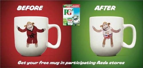 PG Tips free new mug with 160pk. of teabags for £3.00 @  ASDA