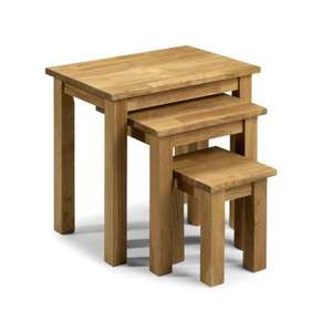 Julian Bowen Coxmoor Solid Oak Nest of tables - £58.49 delivered @ Amazon
