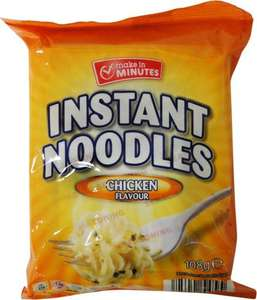 Aldi 108g Instant noodles vs Tesco 20p EDValue noodles (65g) ALDI £0.18 - A wake up call?