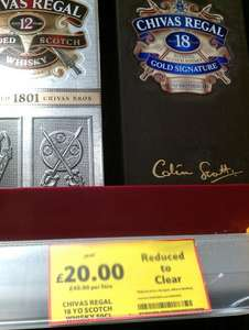 Chivas Regal 18yo Gold Signature Whisky (50cl) - Tesco instore £20 (was £40)