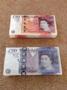 £50, £20 & £10 Note Tissues - 59p Instore @ Home Bargains