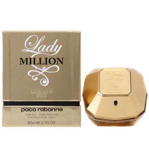 Paco Rabanne Lady Million Absolutely Gold Pure Perfume Spray Edition, Stronger Than Eau De Parfum, 80ml At Online Beauty Buys Ebay Shop £49.95 Delivered