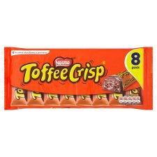 Nestle Chocolate Bar 8-packs: Toffee Crisp/Kit-Kat 4-finger/Kit-Kat Chunky - 3 for £5 at Tesco.