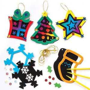 Scratch art foam decoration kits (pack of 5) £1.49 delivered @ Yellow moon