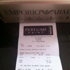 Euporium Armani She The Perfume Point in Store Only £39.50