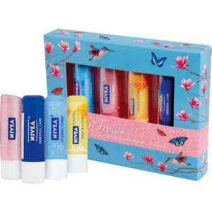 Argos Nivea Lip Treats Lip Balm Set Only 3.99