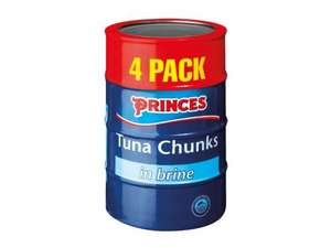 Princes Tuna Chunks in Brine 4 x 160g £3 @ Lidl