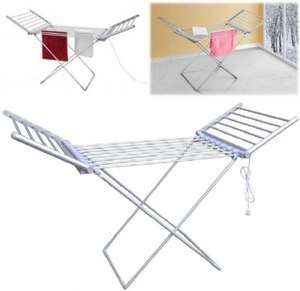 230W ELECTRIC FOLDING CLOTHES TOWEL DRYING RACK AIRER DRYER LAUNDRY RAIL STAND £24.99 Ebay Daily deal (pink and blue gifts)