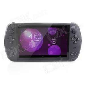 "JXD S7800B 7"" Capacitive Screen Quad Core Android 4.2 Smart Handheld Game Console - Black - 71% off - £29.70 @ DealExtreme"