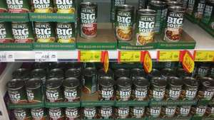 Heinz Big Soups - Various 500g Tins - Roast Chicken & Veg,Smokin' Chicken & Bacon, Angus Steak & Potato, Angus Steak & Onion £1 @ ASDA