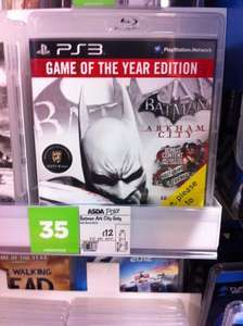 "**Batman: Arkham City ""Game Of The Year Edition"" PS3 £12 @ Asda**"