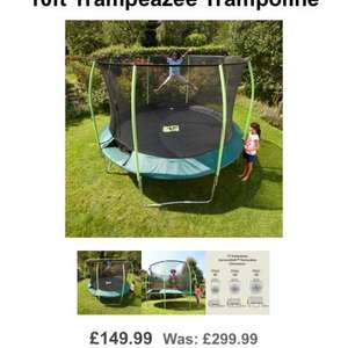 TP 10ft Trampeazee Trampoline half price £149