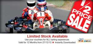 Half Price Karting Gift Vouchers (Thurrock, Brentwood Essex) £10 @ Lakeside Karting