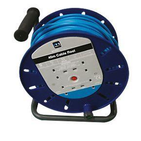 Masterplug Cable Reel 4G 240V 45m - SCREWFIX - £31.99