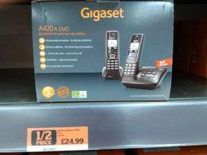 Gigaset A420a Twin Cordless Phone half price @ £24.99 @ Sainsburys Instore and Online