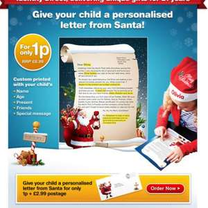 Personalised Letter From Santa for only 1p! And only pay £2.99 for delivery! From identity direct