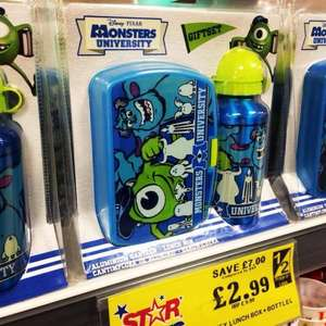 Monsters University lunchbox & bottle giftset only £2.99 @ Home Bargains rrp £9.99
