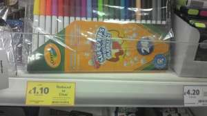 Crayola Supertips 24pk Washable Colour Felt Tip Pens £1.10 At Tesco
