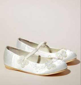 Girls satin bridesmaid/special occasion shoes £10 BHS