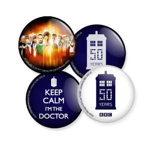 Free Limited Edition Doctor Who 50th Anniversary PinBadges @ Forbidden Planet (Instore)