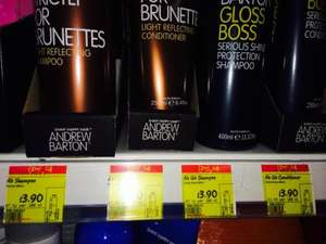 Andrew Barton shampoo/conditioner 2 for £4 or £3.90 each at asda