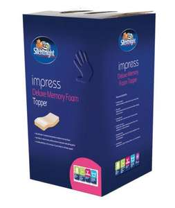 Silentnight Impress 5cm Depth Memory Foam Mattress Topper was £249.99 NOW £49 @ ebay uk-bedding! Also kingsize for £59 plus FREE delivery.