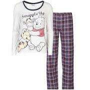 Winnie the Pooh Women's Snuggle Up Checked Pyjama Set - Cream & Navy Clothing £28 @  TheUKEdit.com