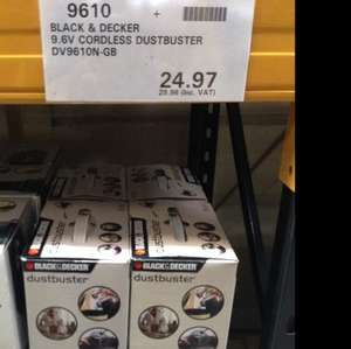 Black & Decker DustBuster DV9610N £29.96 Costco in store