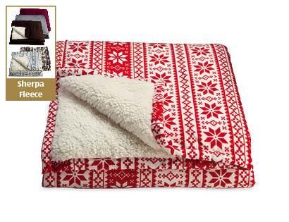 Sherpa Fleece Blanket £14.99 @ Aldi