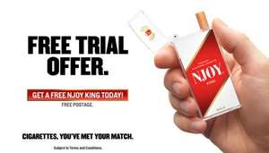 Free NJOY E-Cigarette Sample - Over 18's only. RRP £5.99. Pay just £1 postage.