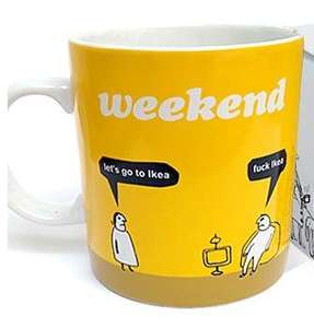 Great xmas mug for 90% of married men - Modern toss direct - £9.50