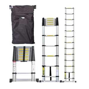 ALUMINIUM MULTI PURPOSE 3.8M TELESCOPIC EXTENDALE LADDER + FREE CARRY CASE BAG £60.99 @ Turborevs Ltd / Ebay
