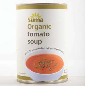 Suma Organic Tomato Soup 400 g (Pack of 12), reduced from £15 to £8 delivered (as low as £6.80 with Subscribe & Save) @Amazon