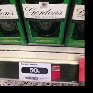 Gordon's Gin Glasses 50p instore @ Sainsburys