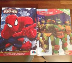 29p Chocolate Advent Calendars TMNT, Spider-Man, Miss Kitty, Skylanders at Home Bargains