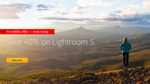 Lightroom 5 (download) £61.54 @ adobe
