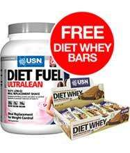 USN Diet Fuel Ultralean 2kg Whey Powder & Box Of 18 USN Diet Whey Bars - Up to £5 Quidco - £34.99 Delivered! @ discount  supplements